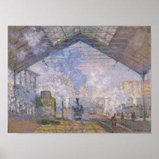 Claude Monet el   el St. Lazare, 1877 de Gare Póster