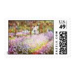 Claude Monet el jardín de los artistas en Giverny Timbre Postal