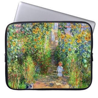 Claude Monet El jardín de Monet en Vétheuil Fundas Portátiles