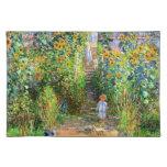 Claude Monet: El jardín de Monet en Vétheuil Manteles Individuales