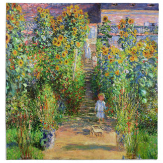 Claude Monet El jardín de Monet en Vétheuil Servilletas De Papel