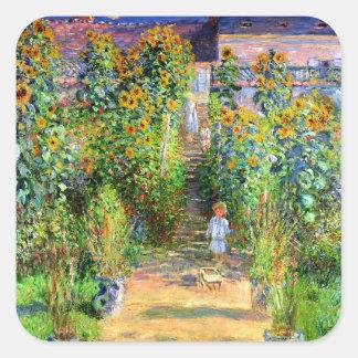 Claude Monet El jardín de Monet en Vétheuil Etiqueta