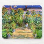 Claude Monet: El jardín de Monet en Vétheuil Tapete De Raton