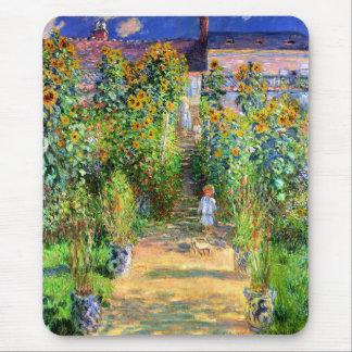 Claude Monet: El jardín de Monet en Vétheuil Alfombrilla De Ratón