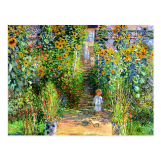 Claude Monet: El jardín de Monet en Vétheuil Postal