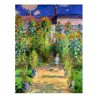 Claude Monet El jardín de Monet en Vétheuil Postales