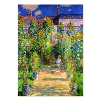 Claude Monet: El jardín de Monet en Vétheuil Tarjetas De Visita Grandes