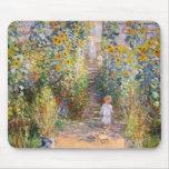 Claude Monet el jardín del artista en Vétheuil, 18 Alfombrilla De Ratón