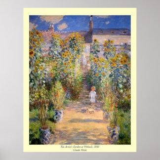 Claude Monet - el jardín del artista en Vétheuil Posters