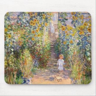 Claude Monet el jardín del artista en Vétheuil, Alfombrilla De Ratón