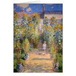 Claude Monet - el jardín del artista en Vétheuil Tarjeta