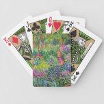 Claude Monet: El jardín del iris en Giverny Baraja Cartas De Poker