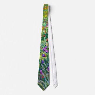 Claude Monet: El jardín del iris en Giverny Corbata