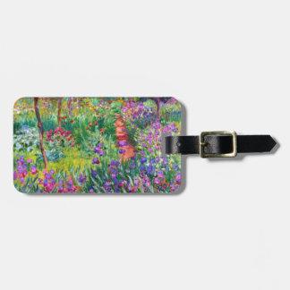 Claude Monet: El jardín del iris en Giverny Etiquetas De Maletas
