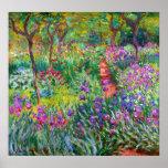 Claude Monet: El jardín del iris en Giverny Póster