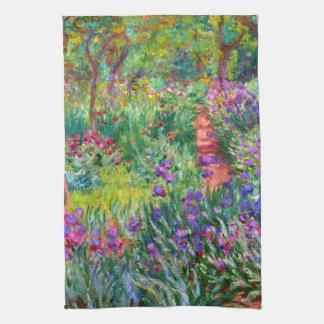 Claude Monet: El jardín del iris en Giverny Toalla De Mano