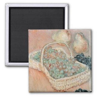 Claude Monet el | la cesta de uvas, 1884 Imán Cuadrado