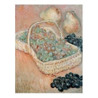 Claude Monet el | la cesta de uvas, 1884 Postal
