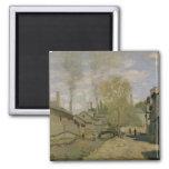 Claude Monet el   la corriente de Robec en Ruán, Imán Cuadrado