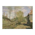 Claude Monet el   la corriente de Robec en Ruán, Impresión En Lona Estirada