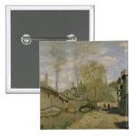Claude Monet el   la corriente de Robec en Ruán, Pin Cuadrado