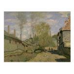 Claude Monet el   la corriente de Robec en Ruán, Postal