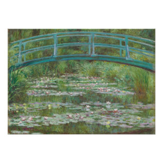 Claude Monet el   la pasarela japonesa, 1899 Póster