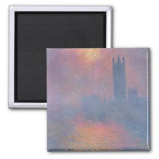 Claude Monet el | las casas del parlamento, Imán Cuadrado