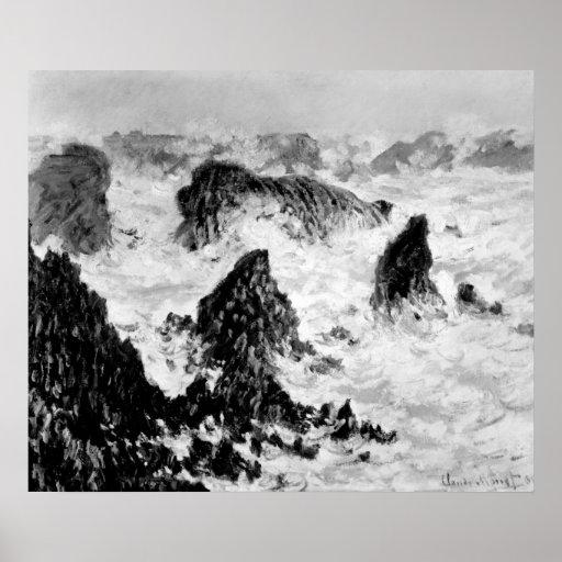 Claude Monet el   las rocas del Belle-Ile, 1886 Póster