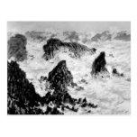 Claude Monet el   las rocas del Belle-Ile, 1886 Tarjeta Postal