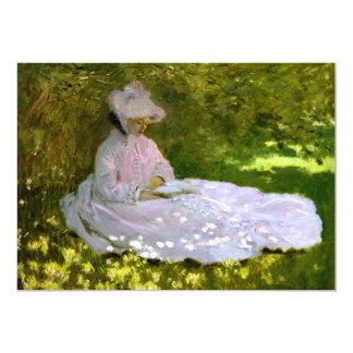"""Claude Monet: El lector Invitación 5"""" X 7"""""""