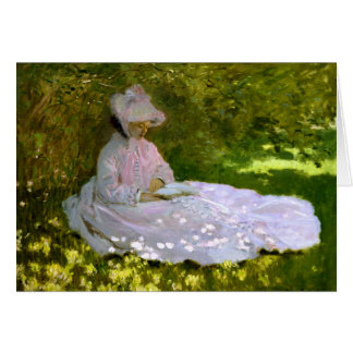 Claude Monet: El lector Tarjeta De Felicitación