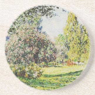 Claude Monet - el parque Monceau Posavasos Personalizados