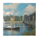 Claude Monet - el puente en Argenteuil Azulejo Ceramica
