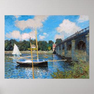 Claude Monet El puente en Argenteuil Impresiones