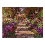 Claude Monet el | un camino en el jardín de Monet Postal