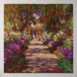 Claude Monet el | un camino en el jardín de Monet Póster