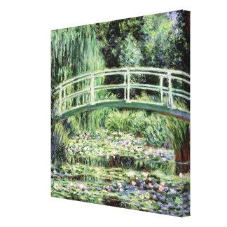 Claude Monet el | Waterlilies blanco, 1899 Impresión De Lienzo
