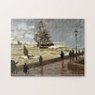 Claude Monet - embarcadero de Le Havre en mún tiem Puzzle Con Fotos