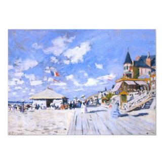 """Claude Monet: En la playa de Trouville Invitación 5"""" X 7"""""""