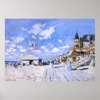 Claude Monet: En la playa de Trouville Posters