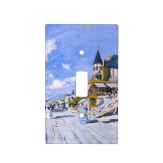 Claude Monet: En la playa de Trouville Placa Para Interruptor