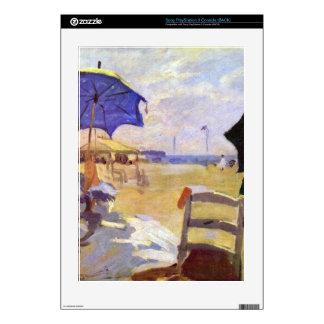 Claude Monet - en la playa en Trouville Consola PS3 Skin