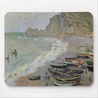 Claude Monet   Etretat, beach and Porte d'Amont Mouse Pad