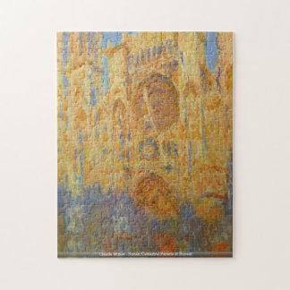 Claude Monet - fachada de la catedral de Ruán en l Rompecabezas
