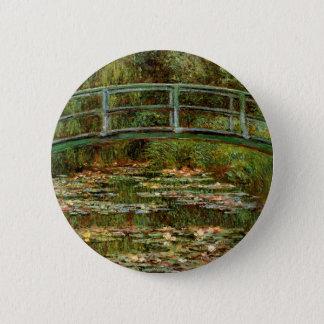 Claude Monet Famous Art Bridge Painting Pinback Button