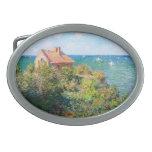 Claude Monet: Fishermans Cottage at Varengeville Oval Belt Buckles