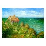 Claude Monet: Fishermans Cottage At Varengeville Custom Invitations