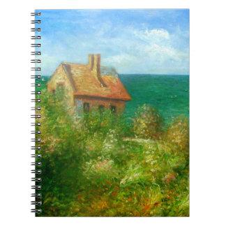 Claude Monet: Fishermans Cottage At Varengeville Spiral Notebook