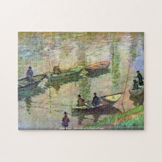 Claude Monet - Fishermen on the Seine at Poissy Jigsaw Puzzle